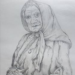 lost and lonely, 10 x 14 inch, zeel savla,portrait drawings,paintings for office,paper,charcoal,10x14inch,GAL019825520