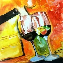 the love wine, 11 x 12 inch, seema agrawal,paintings for dining room,paintings,love paintings,cartridge paper,watercolor,11x12inch,GAL018595538heart,family,caring,happiness,forever,happy,trust,passion,romance,sweet,kiss,love,hugs,warm,fun,kisses,joy,friendship,marriage,chocolate,husband,wife,forever,caring,couple,sweetheart