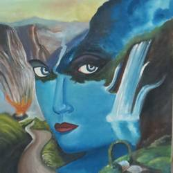 copy, 15 x 40 inch, chandni saxena,nature paintings,paintings for living room,canvas,oil,15x40inch,GAL020035559Nature,environment,Beauty,scenery,greenery