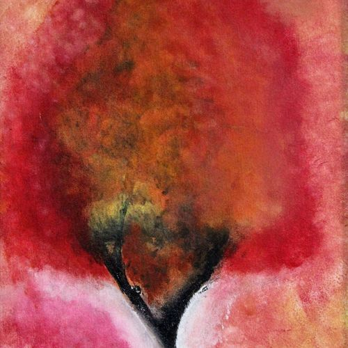 burning tree, 12 x 16 inch, shamli hingorani,abstract paintings,paintings for living room,cloth,acrylic color,12x16inch,GAL020265612