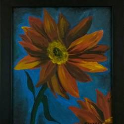 a beautiful flower, 10 x 12 inch, ravneet kaur,flower paintings,paintings for office,canvas board,acrylic color,10x12inch,GAL019885616