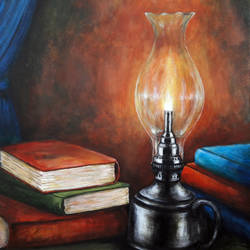 knowledge, 24 x 30 inch, seby augustine,still life paintings,paintings for living room,vertical,canvas,acrylic color,24x30inch,GAL01505641