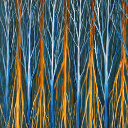branches and roots, 24 x 36 inch, seby augustine,abstract paintings,paintings for dining room,canvas,acrylic color,24x36inch,GAL01505642