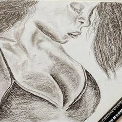 lonely beauty, 8 x 6 inch, devender kumar,portrait drawings,paintings for bedroom,canson paper,graphite pencil,8x6inch,GAL020055660