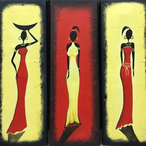 the glamour girl, 18 x 18 inch, nisha agarwal,abstract paintings,paintings for bedroom,multi piece paintings,canvas,acrylic color,18x18inch,GAL020375671