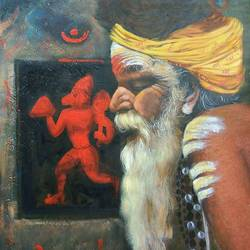 prayer, 24 x 30 inch, sai kalyani,paintings for living room,figurative paintings,modern art paintings,canvas,acrylic color,24x30inch,GAL020525686