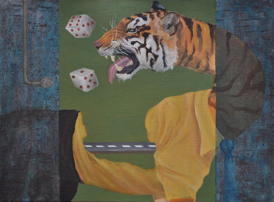 corruption in procurement auction, 22 x 28 inch, ankur singla,surrealist paintings,paintings for living room,canvas,acrylic color,22x28inch,GAL018905699