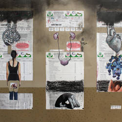 no aids... save girl..., 42 x 32 inch, ankur singla,surrealist paintings,paper,mixed media,42x32inch,GAL018905717