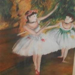 ballerina, 10 x 13 inch, nisha  agrawal,figurative paintings,paintings for bedroom,fabriano sheet,pastel color,10x13inch,GAL020755728