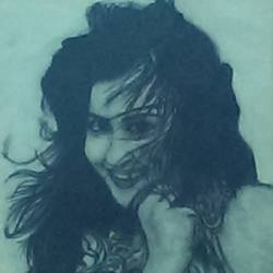 portrait girl, 8 x 11 inch, nisha  agrawal,portrait drawings,paintings for living room,cartridge paper,charcoal,8x11inch,GAL020755732