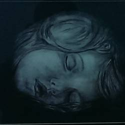 sleeping boy, 9 x 12 inch, nisha  agrawal,portrait drawings,paintings for bedroom,drawing paper,charcoal,9x12inch,GAL020755733