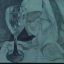 still life, 14 x 10 inch, nisha  agrawal,fine art drawings,paintings for dining room,drawing paper,pencil color,14x10inch,GAL020755736