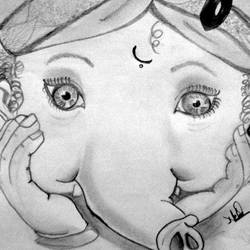 Charcoal Ganesha Paintings Online Buy Charcoal Ganesha Paintings By Top Indian Artist At Gallerist In