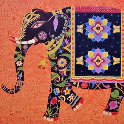royal elephant, 48 x 36 inch, bhaskar lahiri,animal paintings,paintings for living room,canvas,acrylic color,48x36inch,GAL020975771