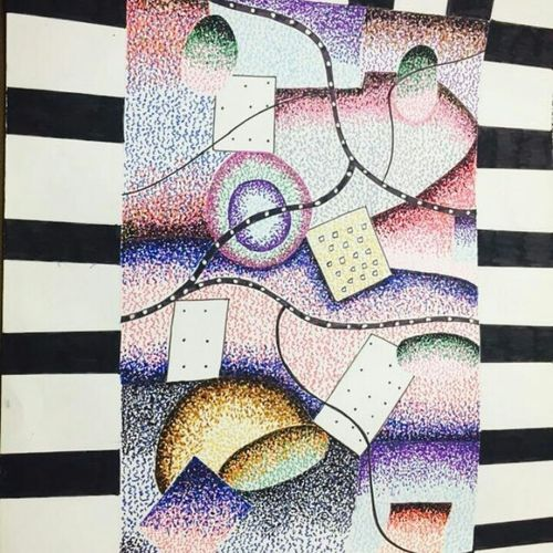 sketching, 16 x 13 inch, runjhun  jain,abstract paintings,paintings for dining room,ivory sheet,pencil color,16x13inch,GAL021075784