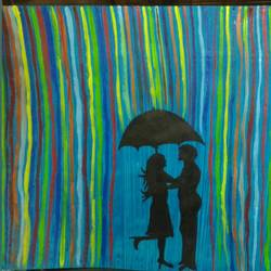 couple, 24 x 17 inch, runjhun  jain,paintings for bedroom,love paintings,handmade paper,acrylic color,24x17inch,GAL021075787heart,family,caring,happiness,forever,happy,trust,passion,romance,sweet,kiss,love,hugs,warm,fun,kisses,joy,friendship,marriage,chocolate,husband,wife,forever,caring,couple,sweetheart