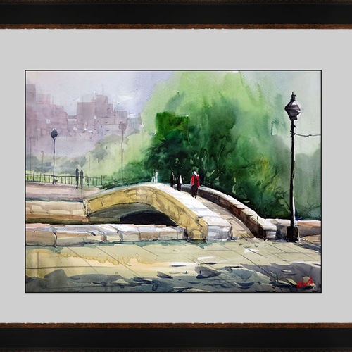 peaceful out door , 17 x 15 inch, sankar thakur,nature paintings,paintings for bedroom,fabriano sheet,watercolor,17x15inch,GAL0758Nature,environment,Beauty,scenery,greenery