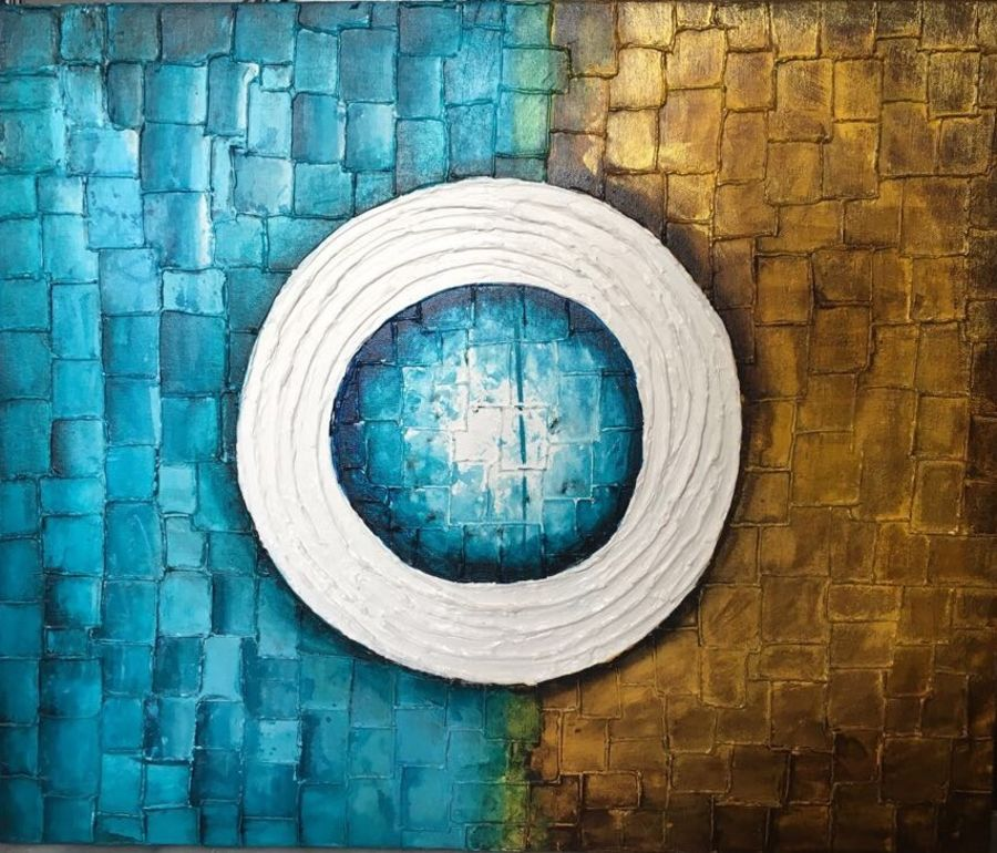 abstract, 24 x 24 inch, nisha agarwal,abstract paintings,paintings for living room,canvas,acrylic color,24x24inch,GAL020375800