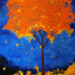 autumn , 30 x 18 inch, preksha jain,landscape paintings,paintings for bedroom,canvas,oil,30x18inch,GAL021385825