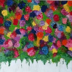 floral , 14 x 18 inch, preksha jain,flower paintings,paintings for bedroom,canvas,oil,14x18inch,GAL021385829