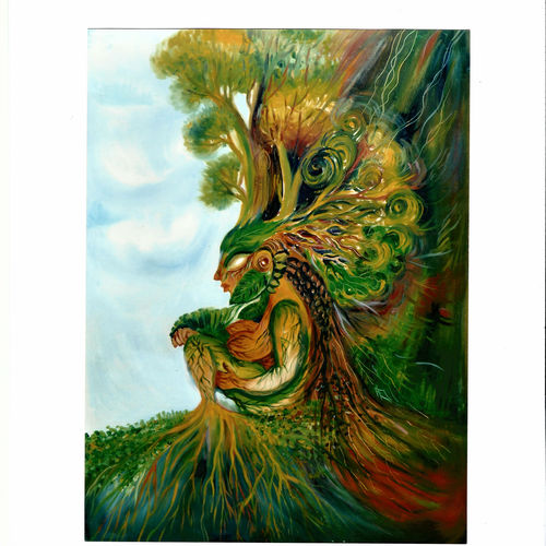 queen of the hills, 21 x 29 inch, ulaguperuvai nathan,modern art paintings,paintings for living room,canvas,oil paint,21x29inch,GAL021545851