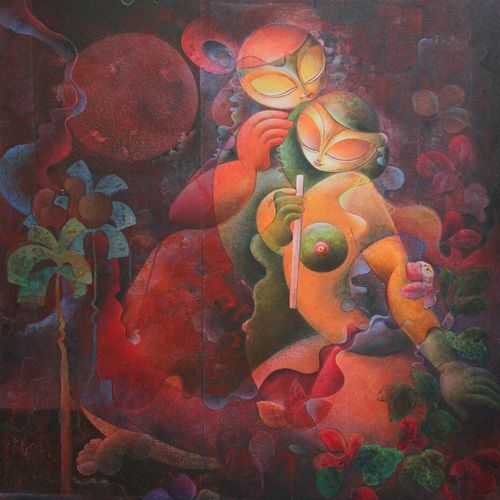 love, 36 x 30 inch, mukta  gupta ,contemporary paintings,paintings for living room,canvas,mixed media,36x30inch,GAL021615857