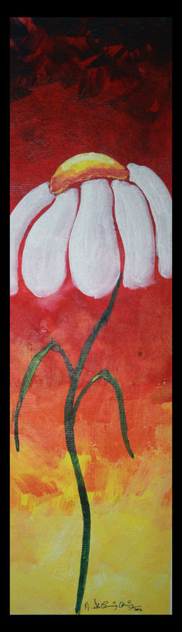 flower3, 6 x 18 inch, vignesh kumar,abstract paintings,paintings for living room,renaissance watercolor paper,acrylic color,6x18inch,GAL0250586