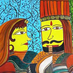 love of king and queen , 15 x 22 inch, subhasree kundu,love paintings,paintings for living room,thick paper,fabric,15x22inch,GAL021655863heart,family,caring,happiness,forever,happy,trust,passion,romance,sweet,kiss,love,hugs,warm,fun,kisses,joy,friendship,marriage,chocolate,husband,wife,forever,caring,couple,sweetheart