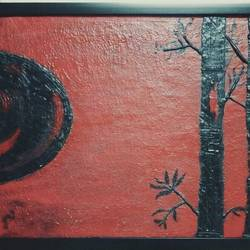 ancient red, 22 x 15 inch, dee vee,folk art paintings,paintings for living room,canvas,acrylic color,22x15inch,GAL021885881
