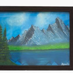 mountain, 12 x 16 inch, akansha  chandolia,landscape paintings,paintings for office,canvas board,oil,12x16inch,GAL021925887