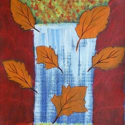 leaves, 10 x 12 inch, malvika bahuguna,modern art paintings,canvas,acrylic color,10x12inch,GAL021965892