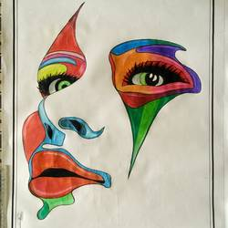 colours of beauty, 22 x 28 inch, mahendar bharatha,abstract drawings,paintings for living room,drawing paper,pencil color,22x28inch,GAL020225901