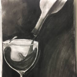 need a drink, 11 x 16 inch, harshit mall,conceptual drawings,paintings for dining room,ivory sheet,charcoal,11x16inch,GAL021915904