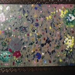 flowers in clour, 20 x 18 inch, bhavik  bhatwani,abstract paintings,paintings for bedroom,thick paper,acrylic color,20x18inch,GAL022095951