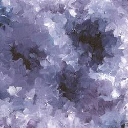 violet flowers, 10 x 8 inch, sumona kundu,flower paintings,paintings for living room,canvas,acrylic color,10x8inch,GAL021905956