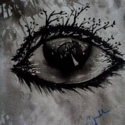 illusion behind eye, 5 x 8 inch, subhankar mondal,abstract paintings,paintings for living room,handmade paper,watercolor,5x8inch,GAL021505966