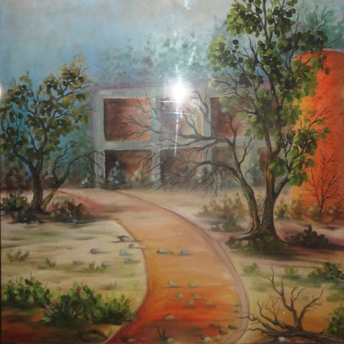 the path, 25 x 33 inch, anupama sachdeva,landscape paintings,paintings for living room,thick paper,oil,25x33inch,GAL0251599