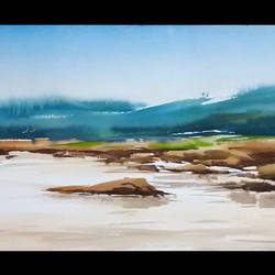 cool weather- odisha, 36 x 15 inch, sankar thakur,nature paintings,fabriano sheet,watercolor,36x15inch,GAL0760Nature,environment,Beauty,scenery,greenery