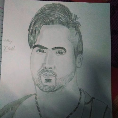 hardy sandhu , 12 x 10 inch, nishant  tiwari ,drawings,abstract drawings,paintings for living room,paper,pencil color,12x10inch,GAL022496069