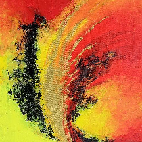 abstract , 12 x 16 inch, sumona kundu,abstract paintings,paintings for office,canvas,acrylic color,12x16inch,GAL021906079