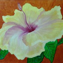 yellow flower, 20 x 23 inch, parita patel,nature paintings,paintings for living room,canvas,oil,20x23inch,GAL022776105Nature,environment,Beauty,scenery,greenery