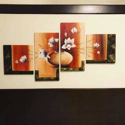 4 panel art, 40 x 32 inch, faazilah ahmed,abstract paintings,paintings for living room,canvas,oil paint,40x32inch,GAL022816122