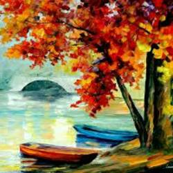 serenity, 17 x 12 inch, devasmita bhattacharyya,landscape paintings,paintings for living room,ivory sheet,poster color,17x12inch,GAL022766126