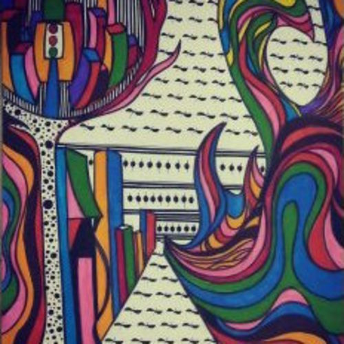 cityscape, 12 x 17 inch, sharanya missula,surrealist drawings,paintings for living room,thick paper,watercolor,12x17inch,GAL06326137