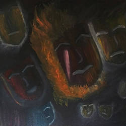 burning relations - beautiful hand painted (oil on cnavas), 20 x 16 inch, rickin patel,modern art paintings,paintings for living room,canvas,oil paint,20x16inch,GAL021606147