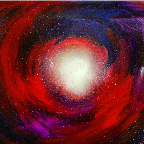 my red galaxy , 12 x 17 inch, vaishno prasad n,abstract expressionist paintings,paintings for bedroom,renaissance watercolor paper,acrylic color,12x17inch,GAL0313616