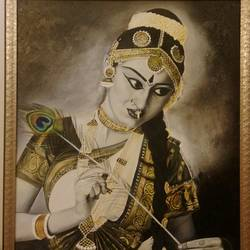 pratiksha , 30 x 40 inch, geetu thakur,realistic paintings,paintings for living room,canvas,mixed media,30x40inch,GAL023216193