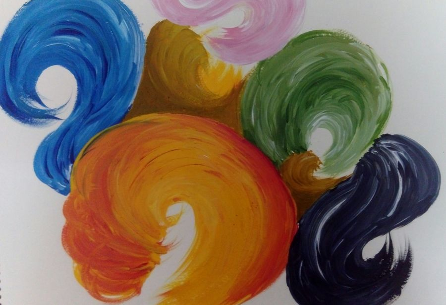 swirl, 15 x 12 inch, pragya agrawal,abstract paintings,paintings for office,cartridge paper,acrylic color,15x12inch,GAL022706208