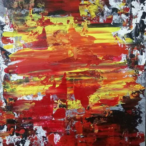 abstract g, 12 x 16 inch, malvika bahuguna,abstract paintings,paintings for dining room,canvas board,acrylic color,12x16inch,GAL021966251