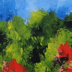 landscape abstract, 36 x 8 inch, sumona kundu,abstract paintings,paintings for living room,canvas,acrylic color,36x8inch,GAL021906256